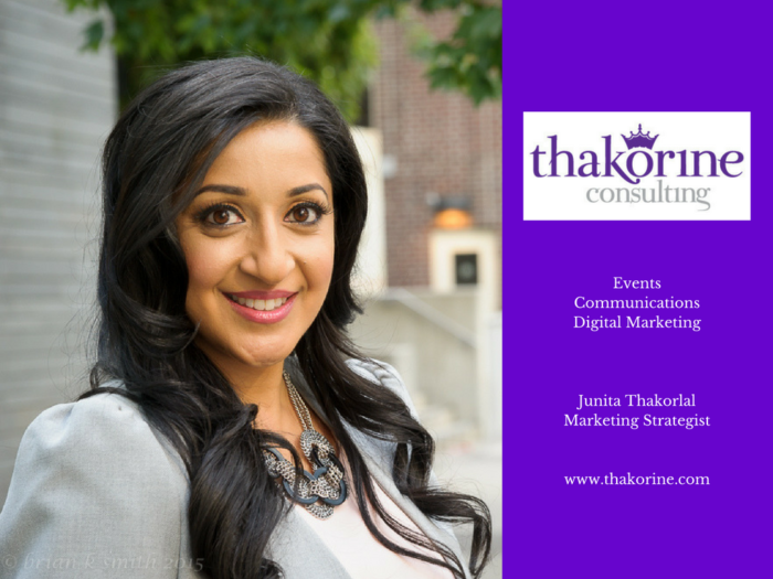 Junita Thaorlal with Thakorine Consulting